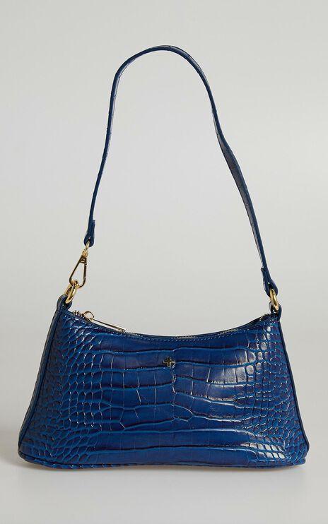 Peta and Jain - Danni Bag in Cobalt Croc