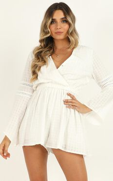 Beyond The Limit Playsuit In White