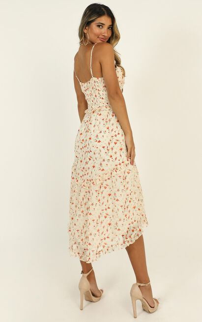 Danielle Dress in white floral - 12 (L), White, hi-res image number null