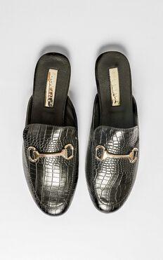 Billini - Olivia Loafers In Black Croc