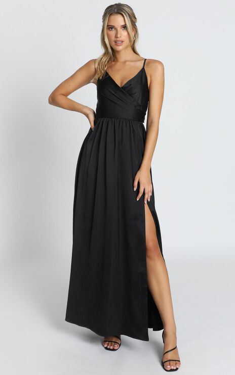 Revolve Around Me Dress In Black