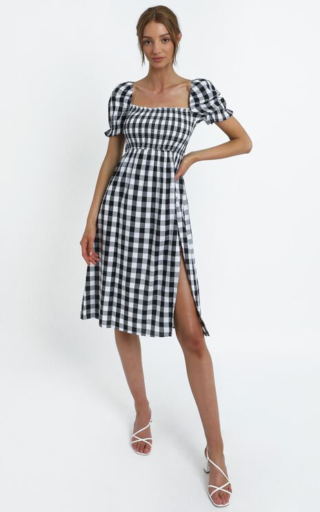 Lowe Dress in Black Check