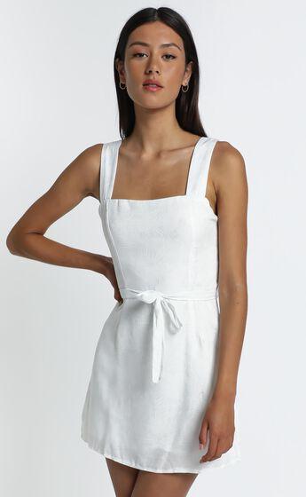 Ronan Dress in White Palm