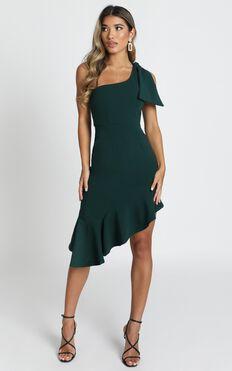 Listen To The Radio Dress In Emerald Green