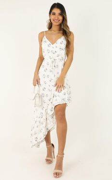 It Wont Matter Dress In White Floral