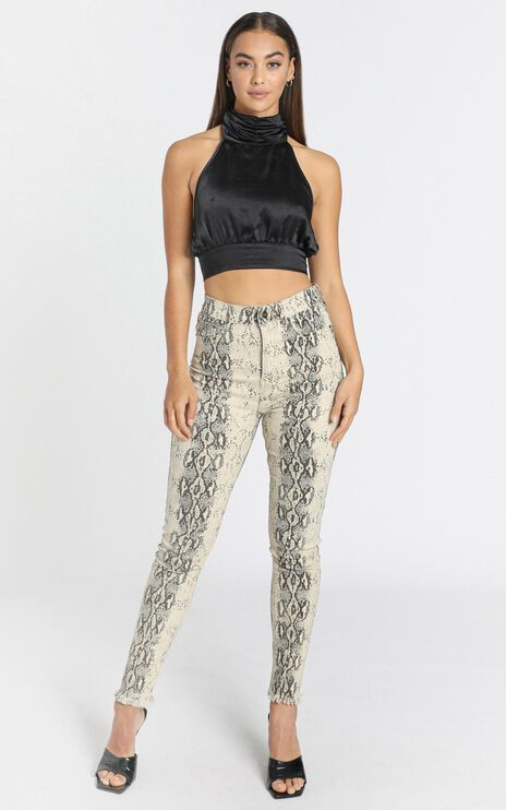 Lioness - Better Than Revenge Pants in Snake Print