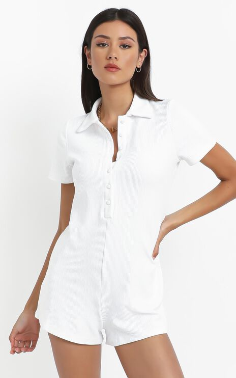 Olivette Playsuit in White