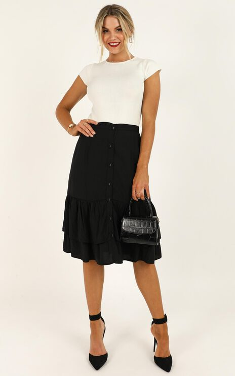 Fierce Competition Skirt In Black