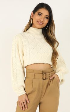 Creating Tension Knit Jumper In Cream