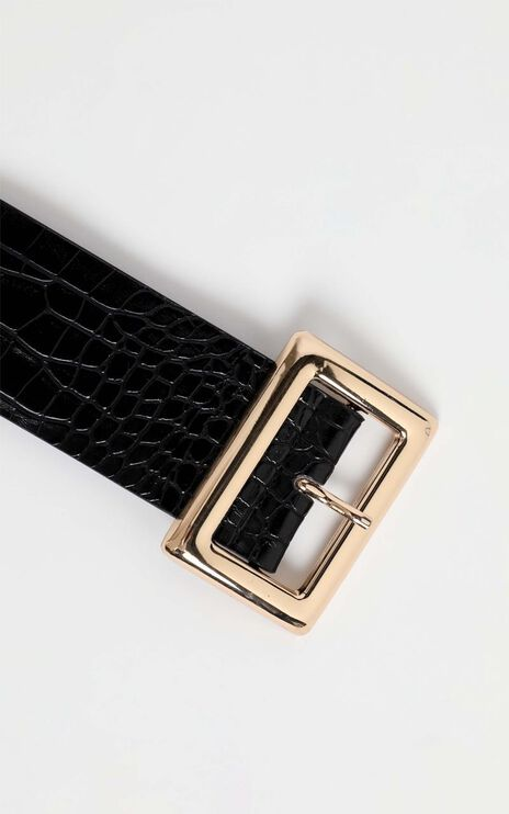 Ezrah Belt in Black and Gold