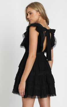 Dream For Days Dress in Black Lace