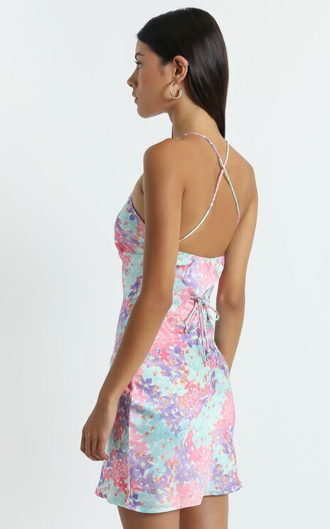 Odine Dress in Electric Blooms
