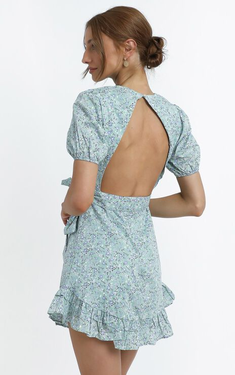 Tiana Dress in Sage Floral