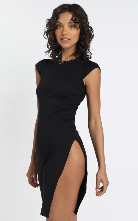Lioness - Don't Blame Me Midi Dress in Black