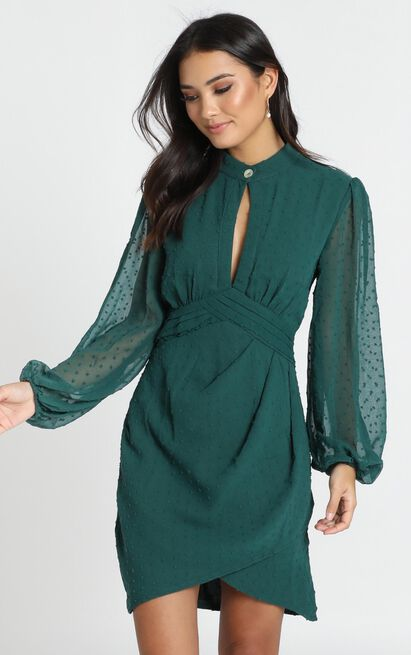 Char Dress in emerald - 14 (XL), Green, hi-res image number null