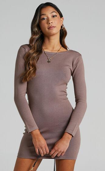 Sonya Knit Dress in Mocha