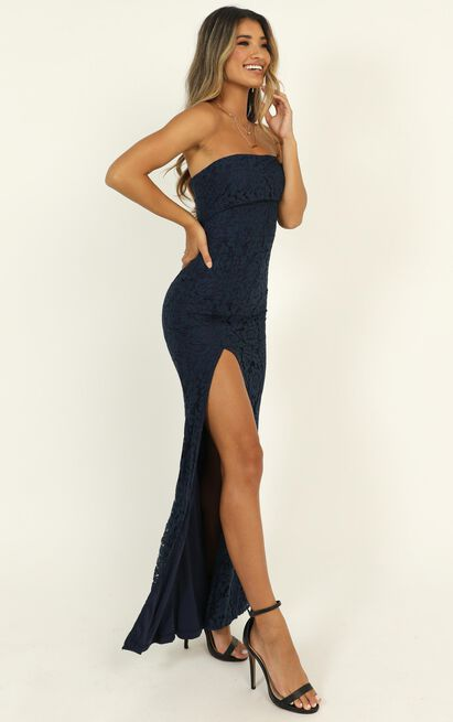 Just Hold On Dress in navy lace - 14 (XL), Navy, hi-res image number null
