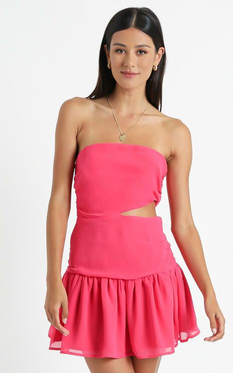 Sazerac Dress in Hot Pink