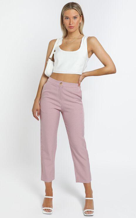 Barbina Pants in Pink Check