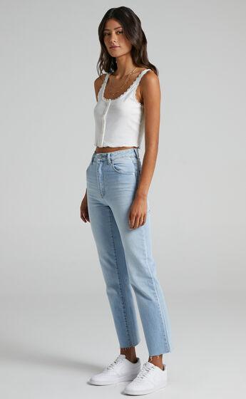 Rollas x Sofia Richie - Original Straight Jeans in Comfort Sky