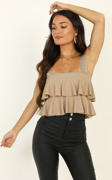 All Your Love Knit Top In Taupe