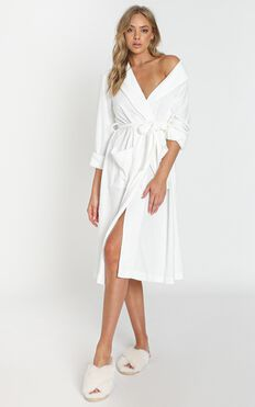 Project REM - Terry Towelling Robe in White