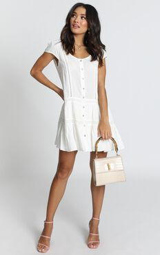 Modern Classic Dress In White