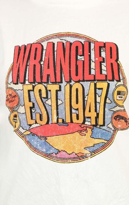Wrangler - Tour Tee in white - 12 (L), White, hi-res image number null