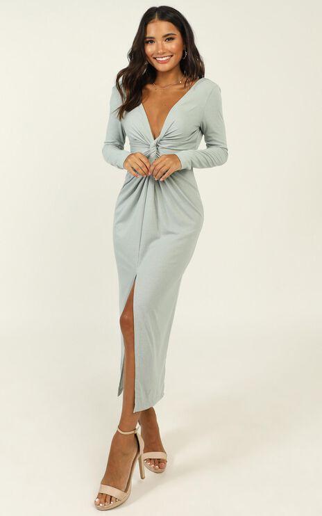 Prime Dress In Sage Rib