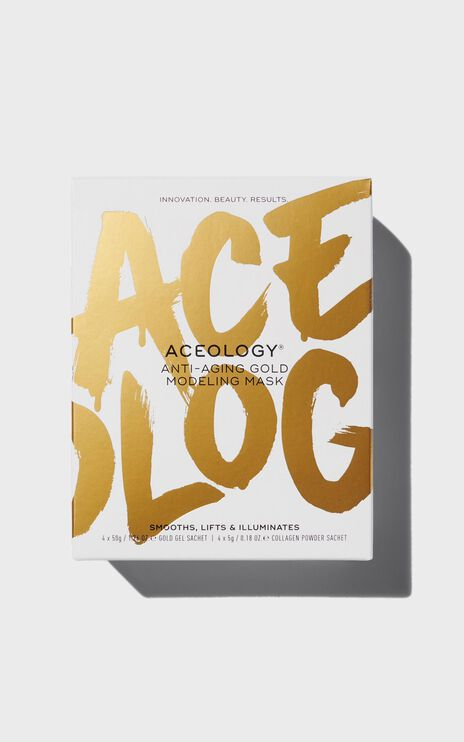 Aceology - Anti Aging Gold Modeling Face Mask (4 Pack)