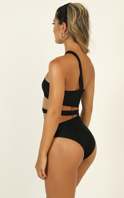 Monica Cut Out One Piece in Black - 12 (L), Black, hi-res image number null