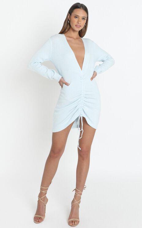 Yasmina Dress in Pale Blue