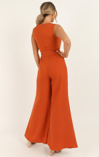 Leave Me in Paradise Jumpsuit in rust - 20 (XXXXL), Rust, hi-res image number null