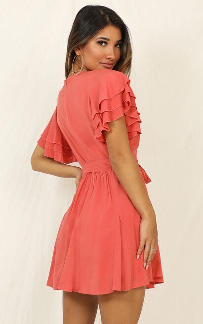 Little Thriller Dress in coral - 14 (XL), Orange, hi-res image number null