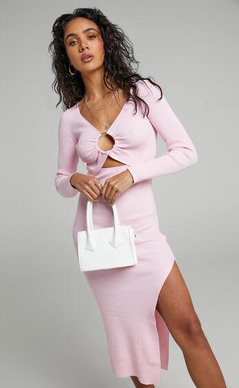 Binky Knit Dress in Ice Pink