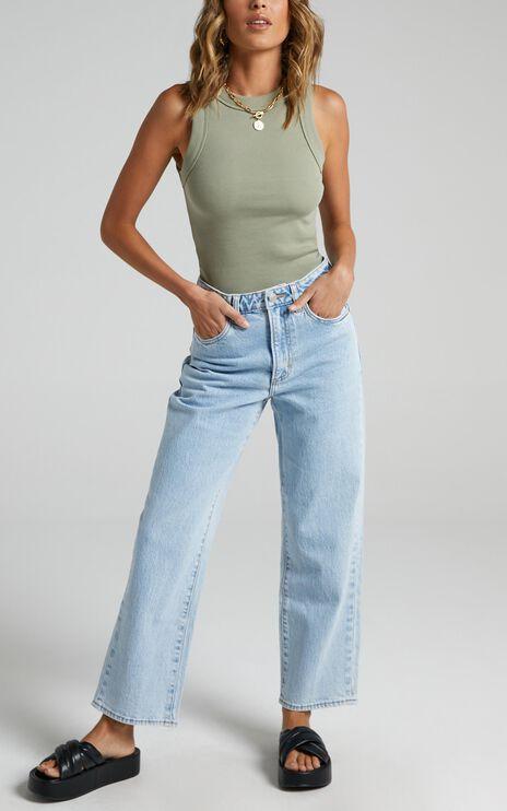 Neuw - Edie Straight Jean in Zero Vinyl
