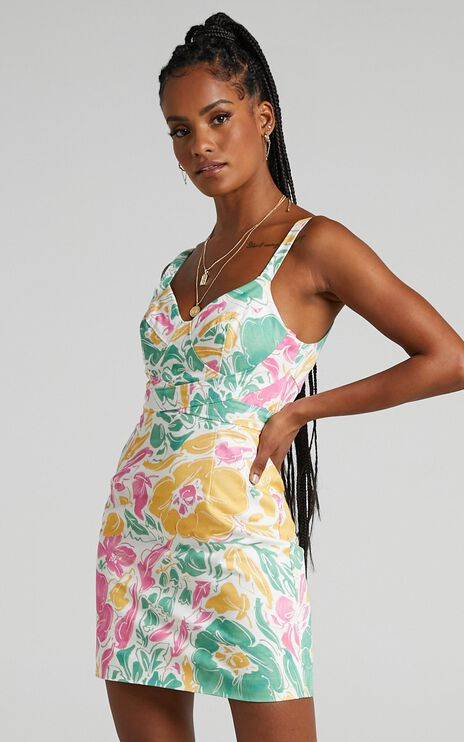 Argel Dress in Electric Floral