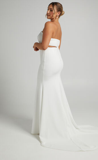 Hopeless Romantic Strapless Two Piece Set in Ivory
