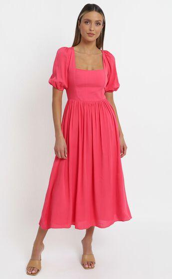 Poppy Dress in Hot Pink