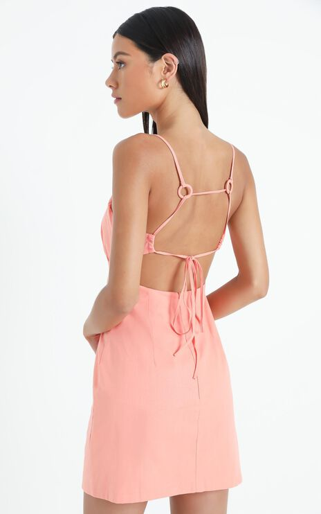 Gretna Dress in Peach