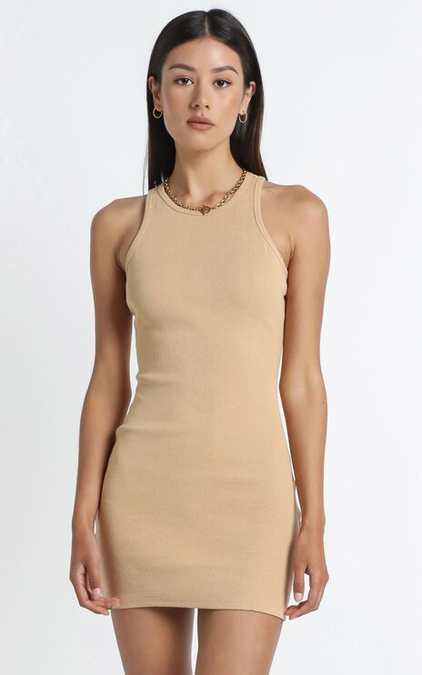 Peyton Dress in Beige