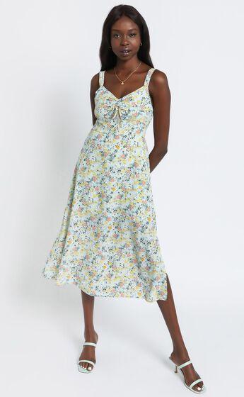Lalla Dress in Mint Floral