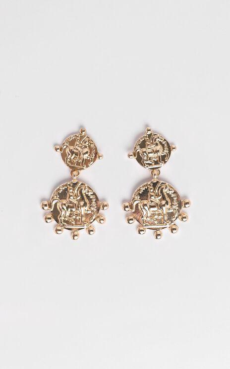 JT Luxe - Verona Drop Earrings in Gold