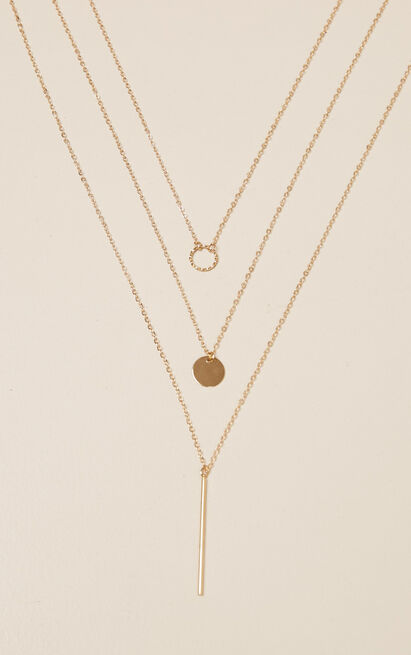 Take It Down Layered Necklace In Gold, , hi-res image number null