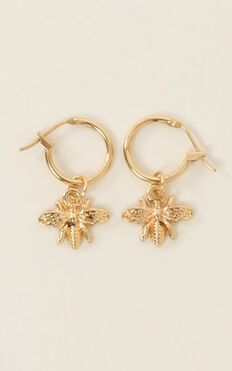 Can I Love You Earrings In Gold