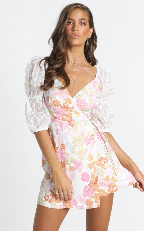 Flowers & Superpowers Dress In Multi Floral