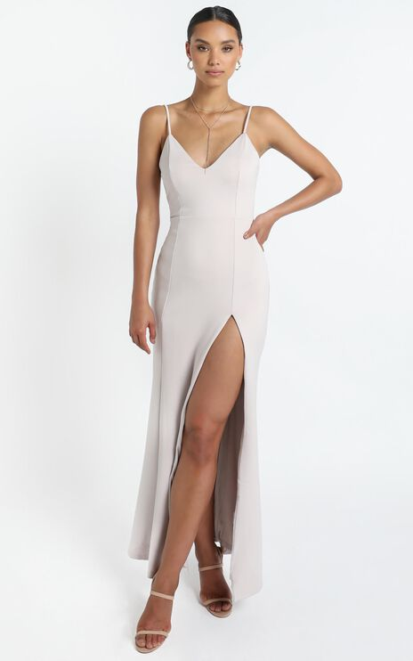 Dare To Dream Maxi Dress In Stone