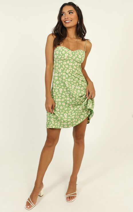Naturally Sweet Dress In Green Floral