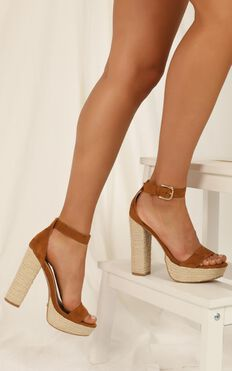 Billini - Evanna heels in tan micro