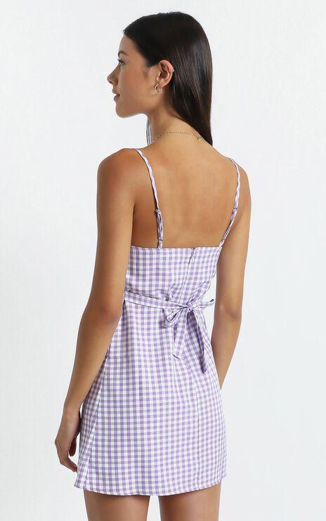 Elsie Dress in Purple Check
